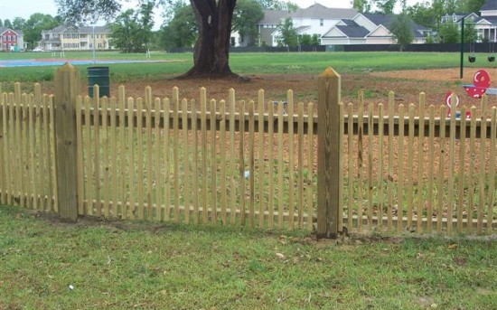 Two Tier Picket Fence
