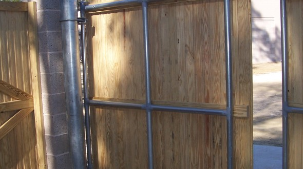 Metal Frame Gate – inside