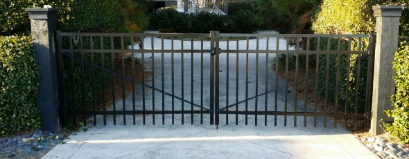Double Drive Aluminum gate