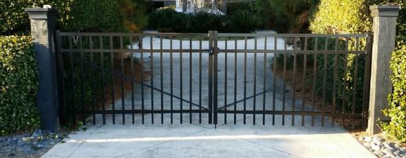 Double Drive Aluminum gate