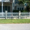 4' picket fence between columns