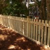 4' picket fence with extended posts showing copper caps