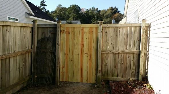 6' tall gate repair