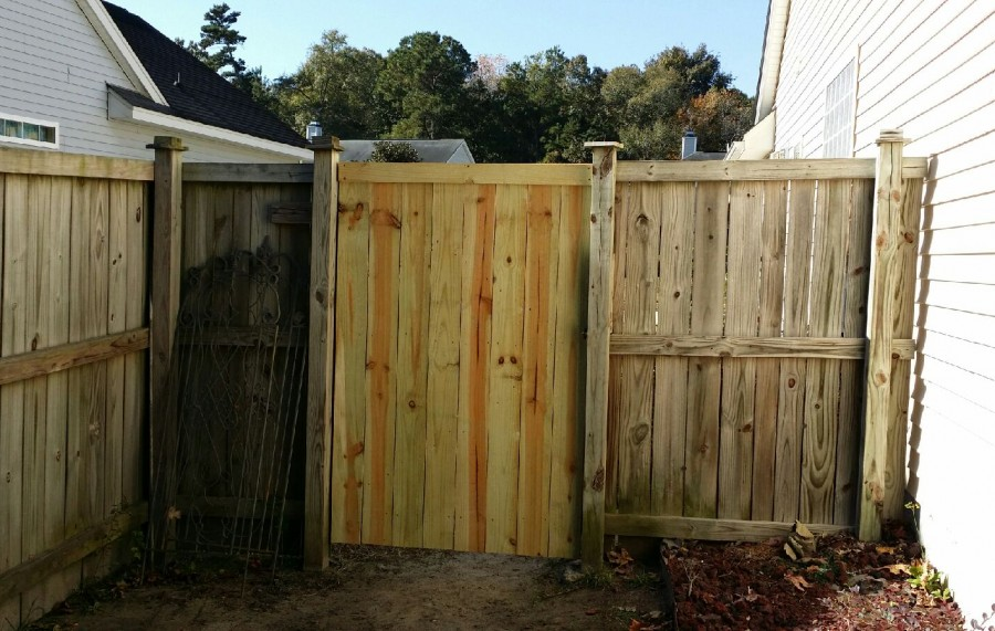 6' tall gate repair