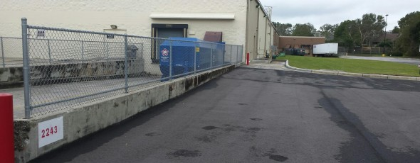 Kohl's Loading Dock Fence