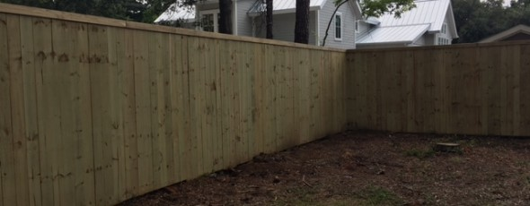 Before and After Privacy Fence