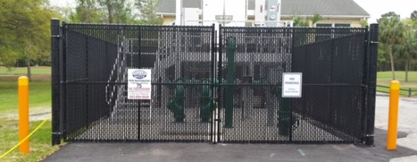 Pump Station Chain Link Fence