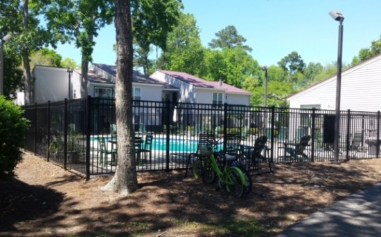 Thicket Apartment Pool Fence