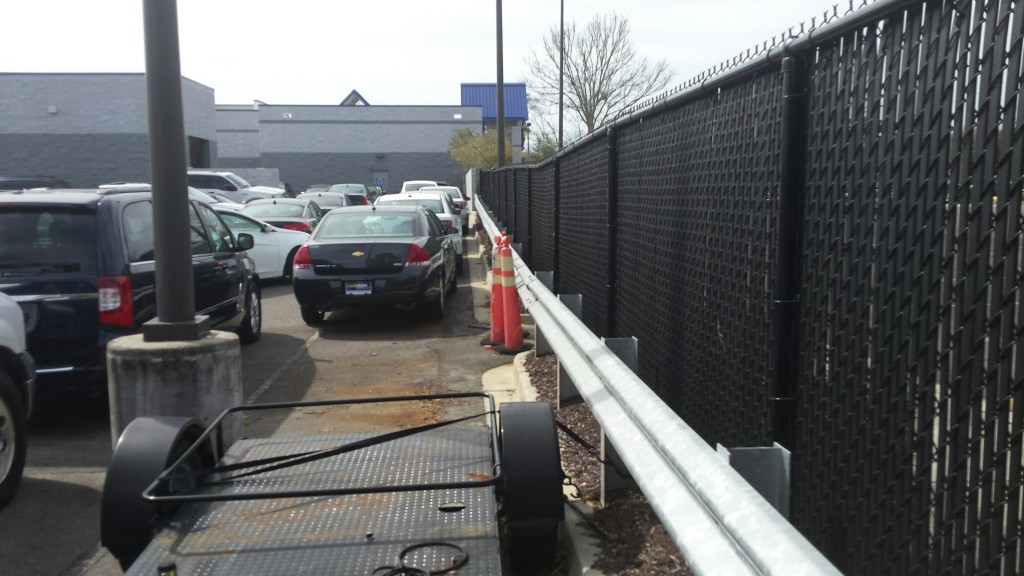 Carmax Guardrail and Chain link Fence