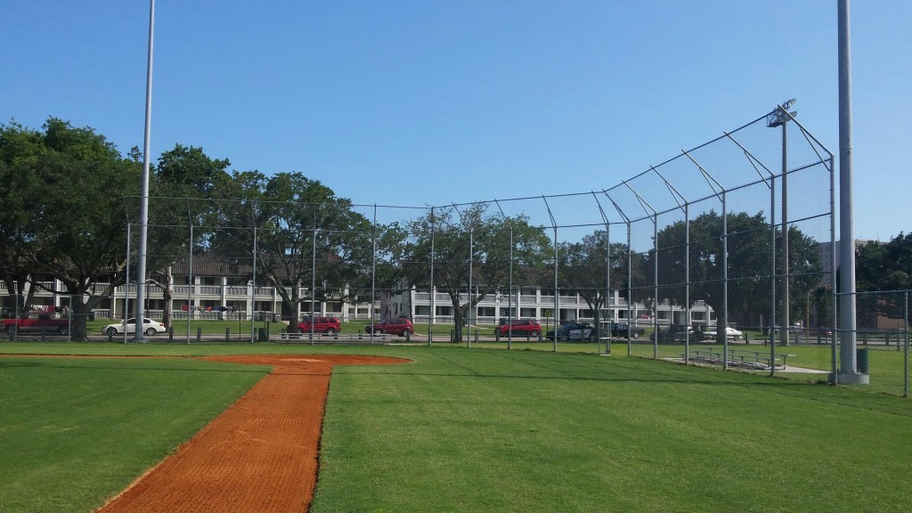 Chas County Parks and Rec backstop and field