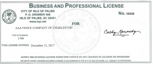 IOP 2017 Business License