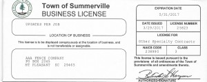 Summerville Business License