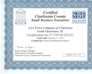 Charleston County SBE certificate