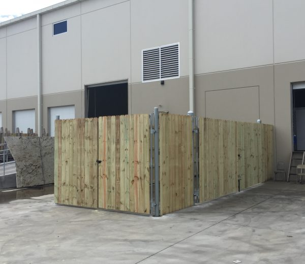 8′ Tall Dumpster Fence with Gates
