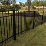 4' tall Jerith Aluminum Fence in Rivertown