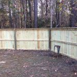 5'  privacy wood fence with trim
